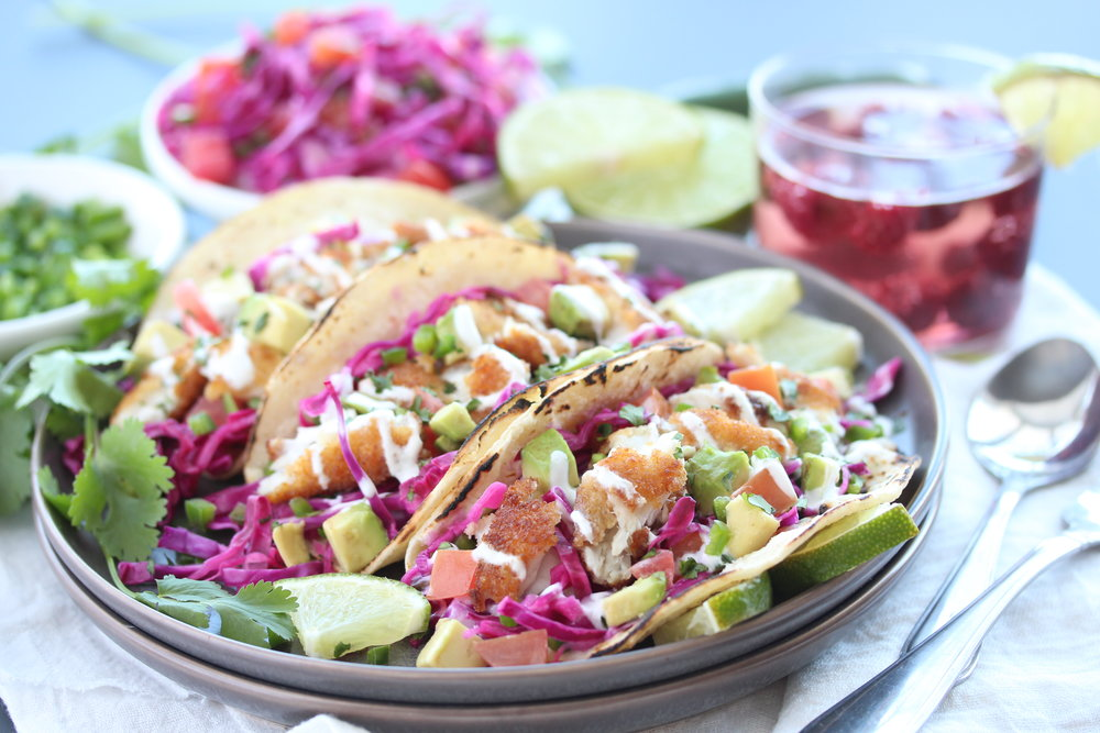 Crispy Fish Tacos - Zested Lemon