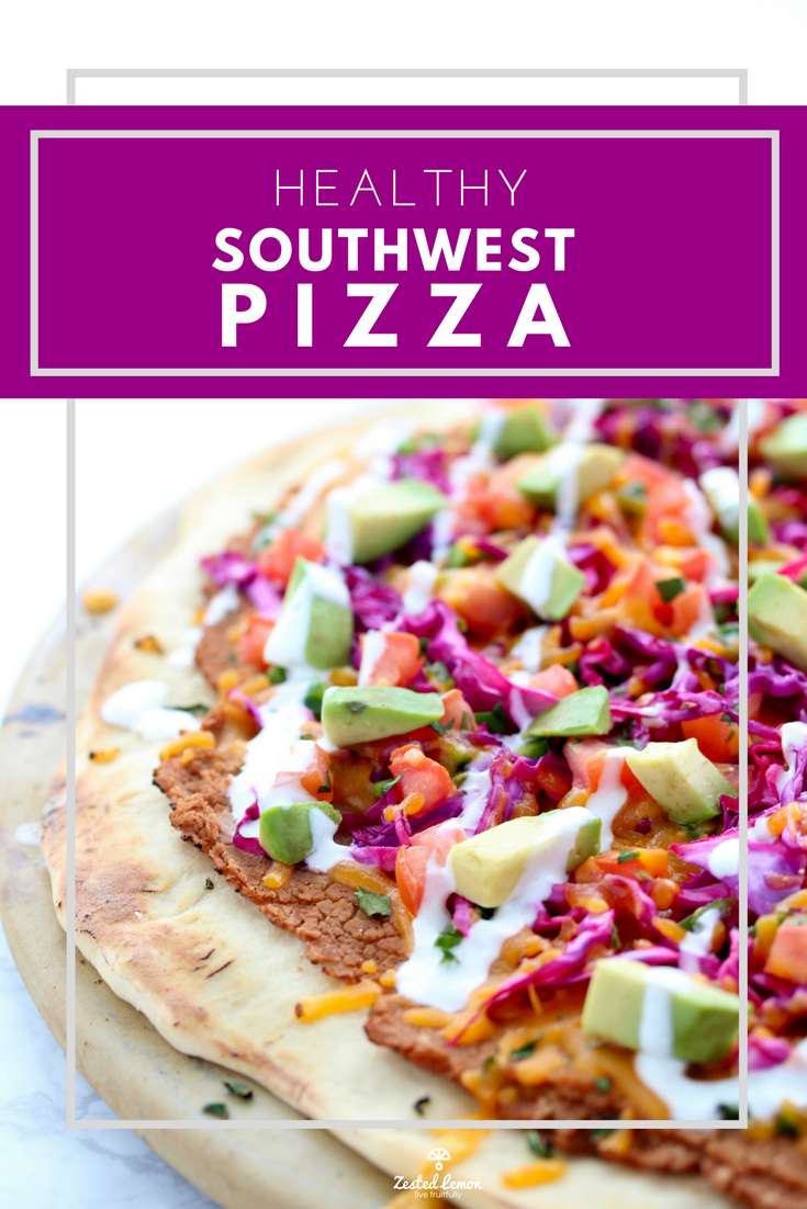 Healthy Southwest Pizza