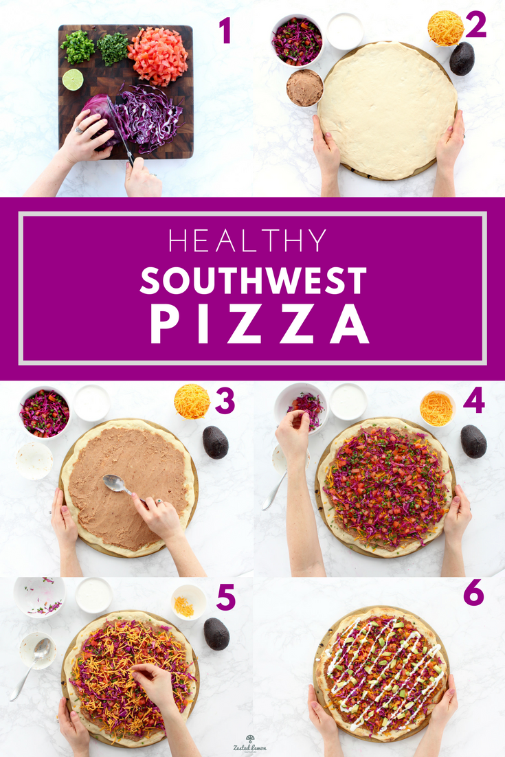 Healthy Southwest Pizza - Zested Lemon