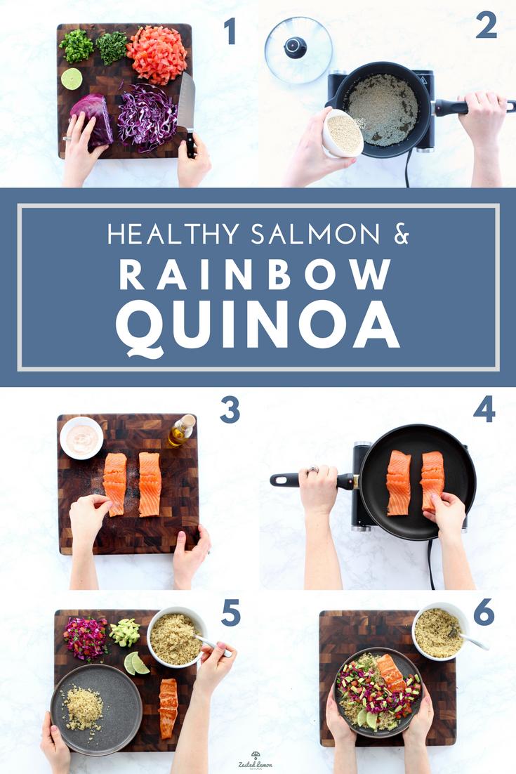 Salmon & Rainbow Quinoa - Zested Lemon