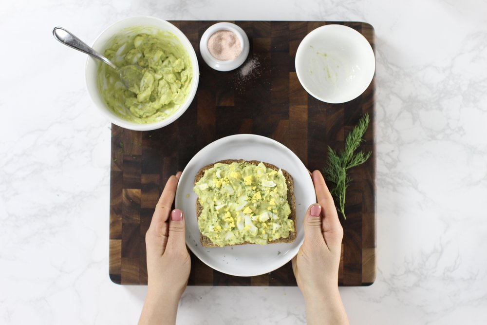 Avocado Egg Salad Breakfast Toast