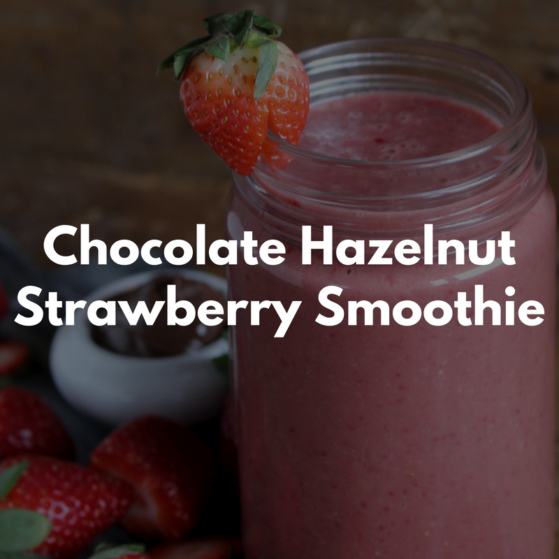 Chocolate Hazelnut Strawberry Smoothie