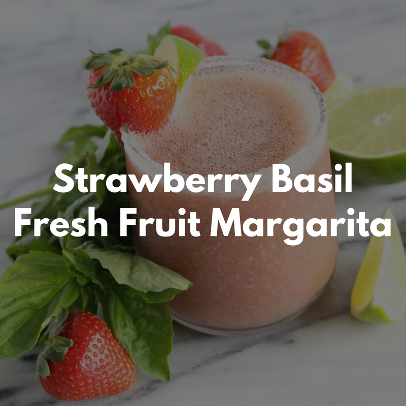 Strawberry Basil Fresh Fruit Margarita