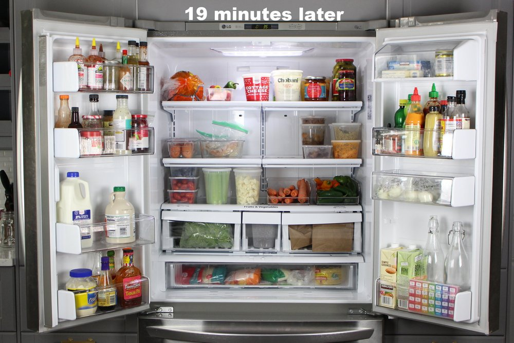 The amount of food you're able to fit in the fridge is less about actual space and more about simple organization.