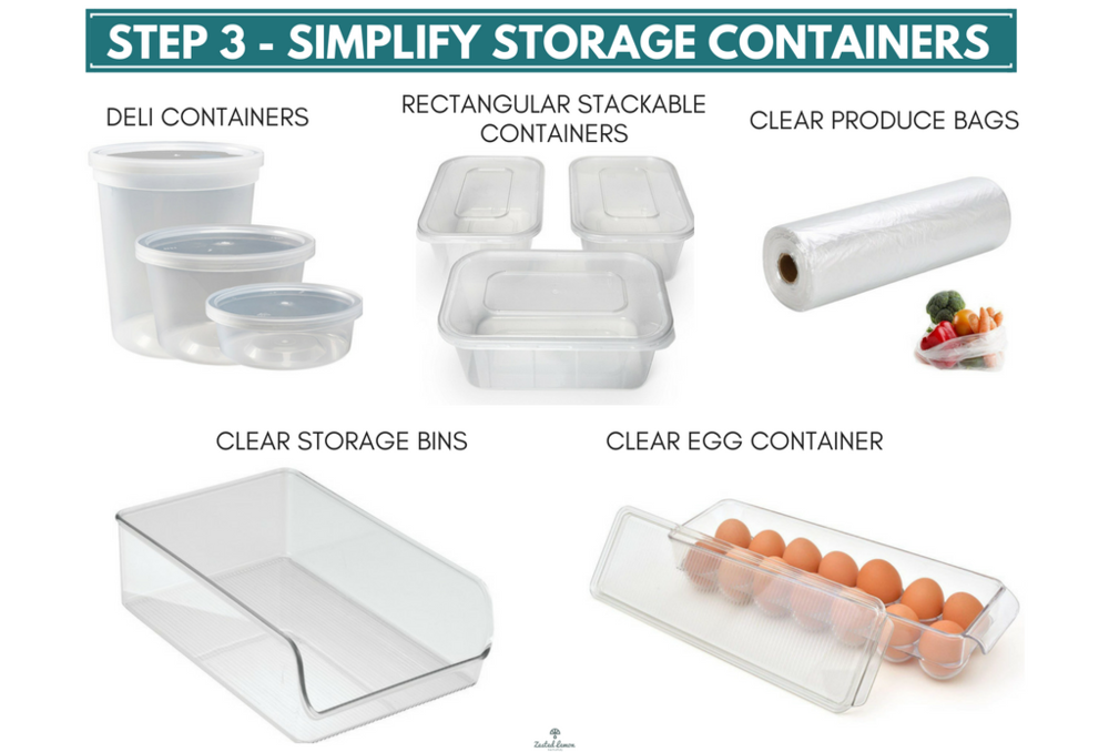 Step 3 - Simplify Storage Containers