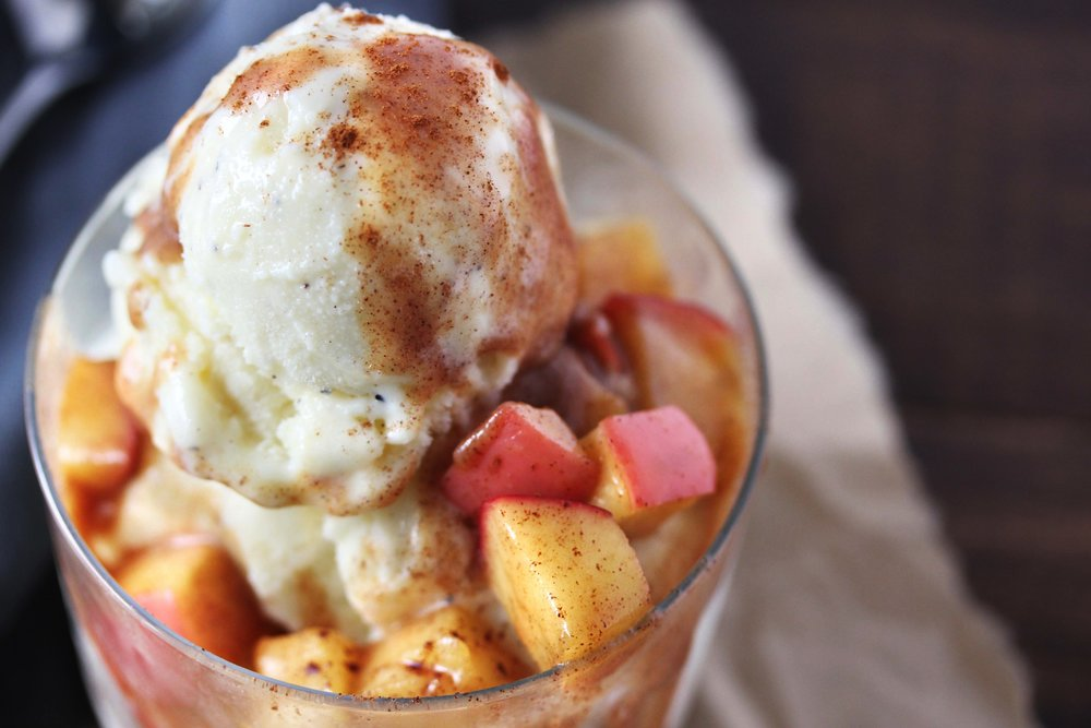 5-Minute Apple Cinnamon Ice Cream Topping