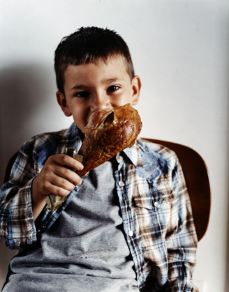 BOY WITH TURKEY