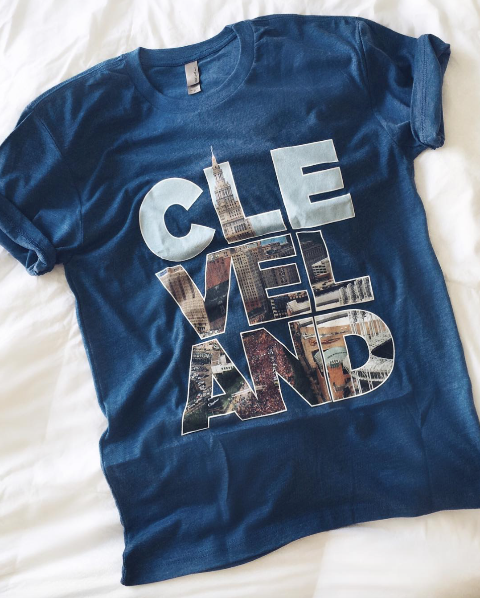 cleveland t-shirt in blue