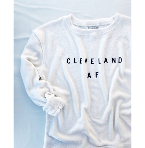 681332d4b0 Cleveland AF Cozy Crewneck Sweater - Oatmeal Colored. IMG 2367.JPG