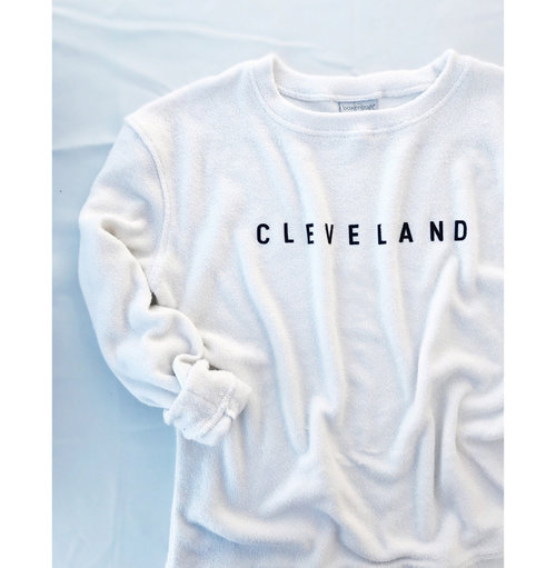 CLEVELAND Cozy Crewneck Sweater - Oatmeal Colored  6cc412120