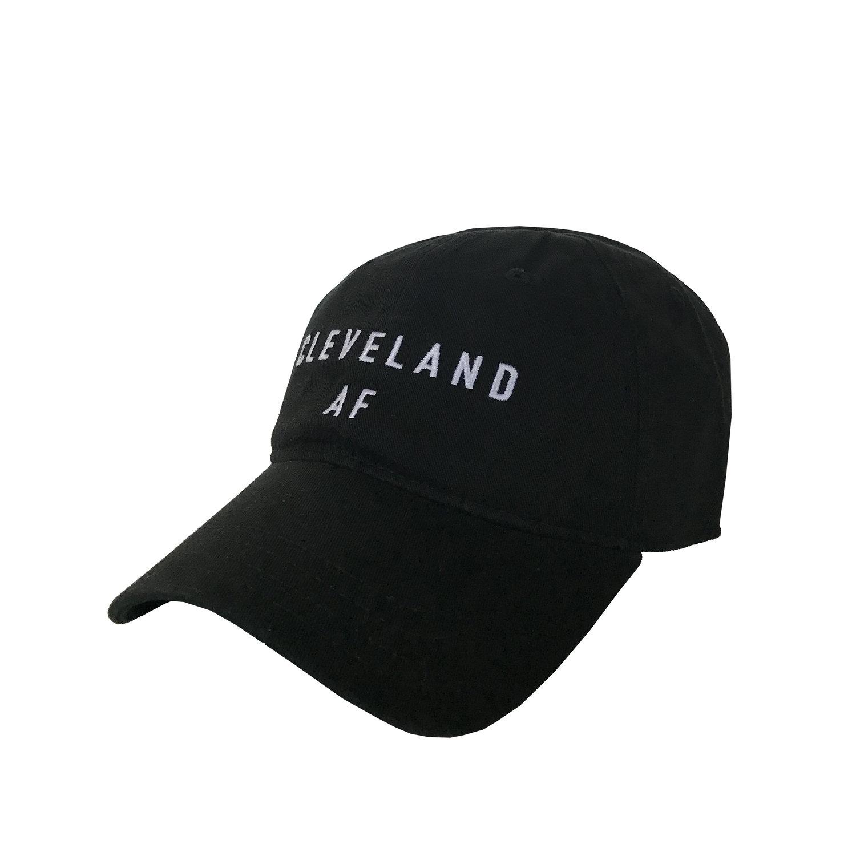 fca2e7a85 Cleveland AF Hat - Black/White | Emily Roggenburk Products