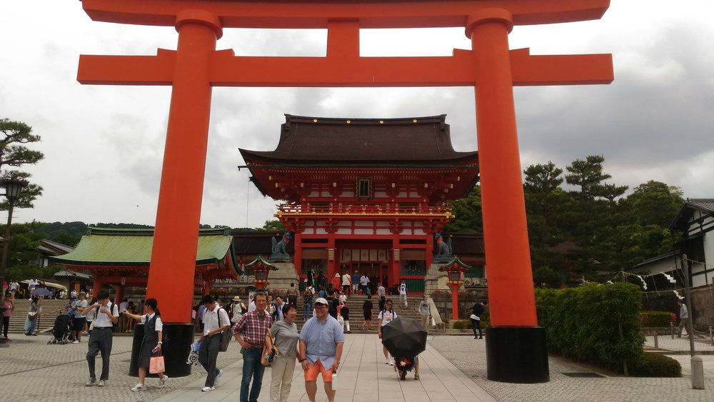My host family took us to the famous Fushimi Inari Taisha Shrine