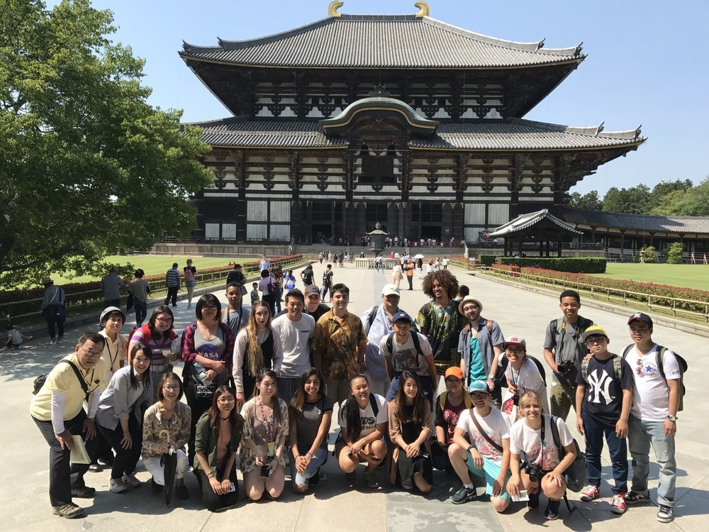 Group trip to Nara and Todaiji, Nara is known for its rather friendly deer. Todaiji is the larget freestanding wooden structure in the world and contains one of the largest Buddhas in the world.