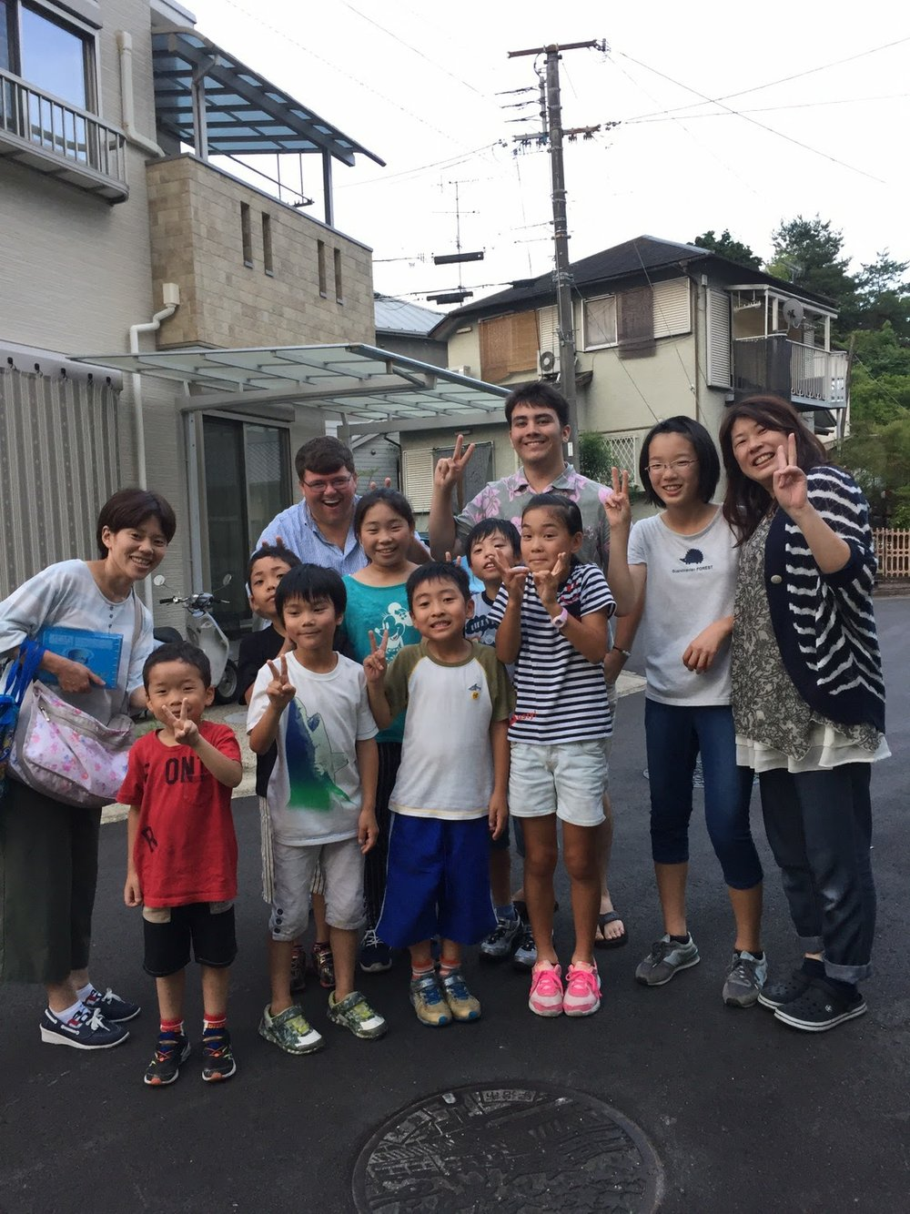 The neighborhood children quickly warmed up to the two new foreigners in their neighbor