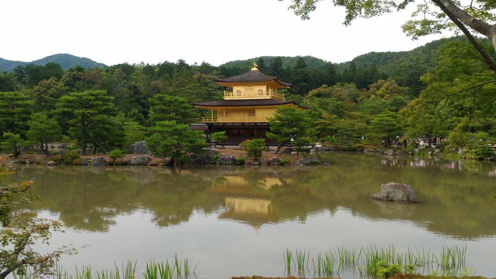 Kinkakuji is one of the most stunning pieces of architecture, the temple pavilion is covered in gold leaf and was built in the late 1300s originally as a small retreat for a local regent.