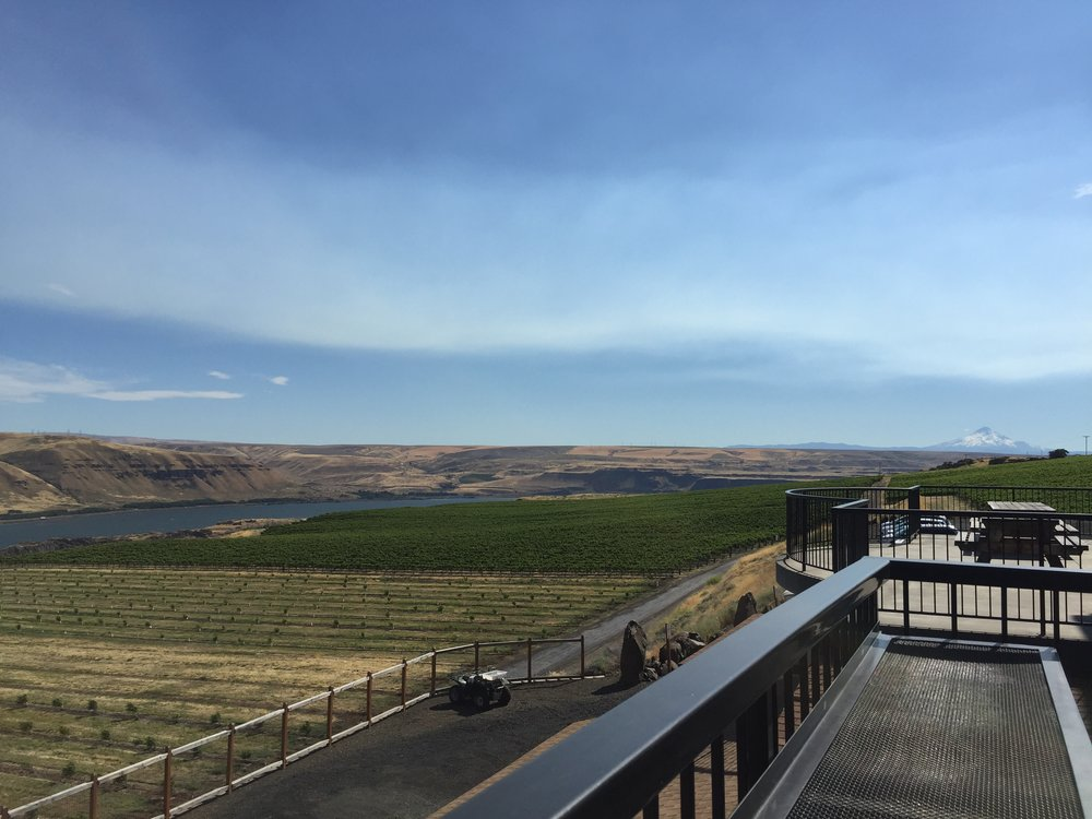 The spectacular views at Maryhill Winery