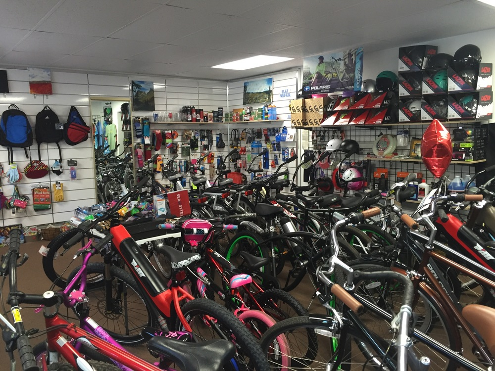 We sell, rent, service and tune up bikes.