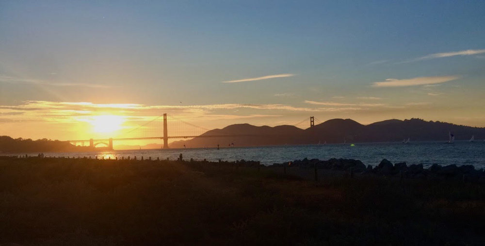 Between all of the city's parks and trails, such as the Presidio, Lands End, Chrissy Field, Marina Blvd, Golden Gate Bridge, and Embarcadero, your morning run is guaranteed to come with a scenic view.