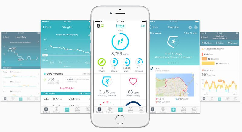 5. Fitbit Fitbit is an all-around tracker app for sleep, exercise, weight, and video workouts. Set goals for yourself and keep track of your friend's progress too. If you have an Aria Wi-Fi Smart Scale, you can track your BMI, lean mass and body fat percentages, and weight trends.