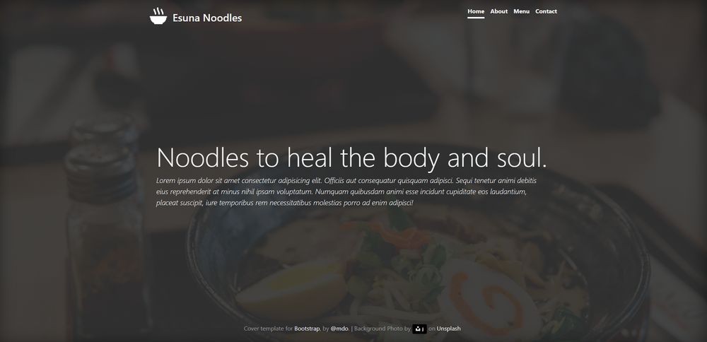 Esuna Noodles Website Design - GITHUB VIEW SITE