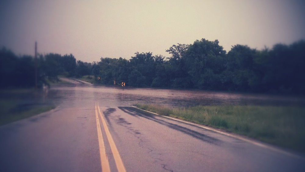 Flood waters  on 116 Kansas