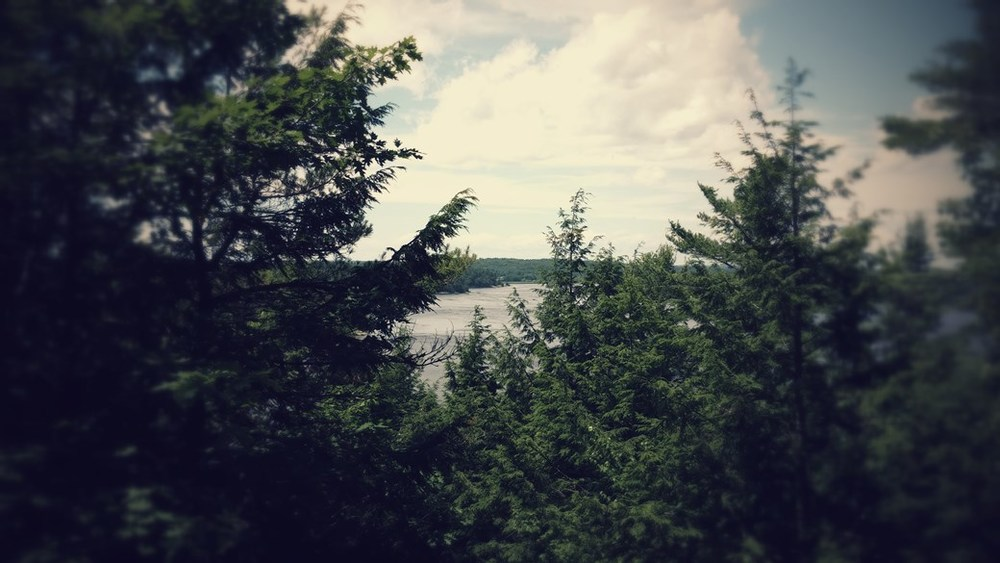 overlooking kennebec river