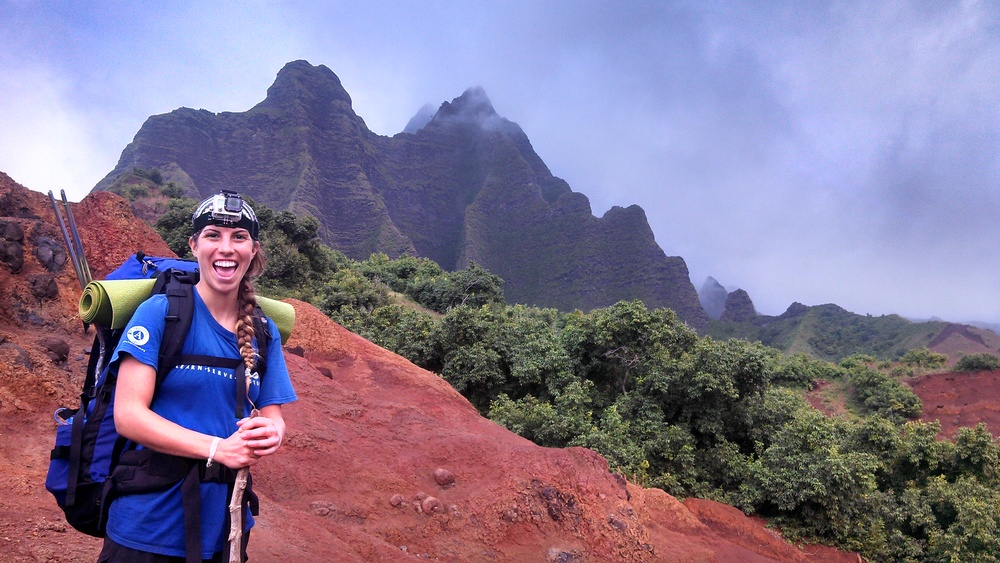 The one and only Jacqueline in Kalalau Valley, Kauai!