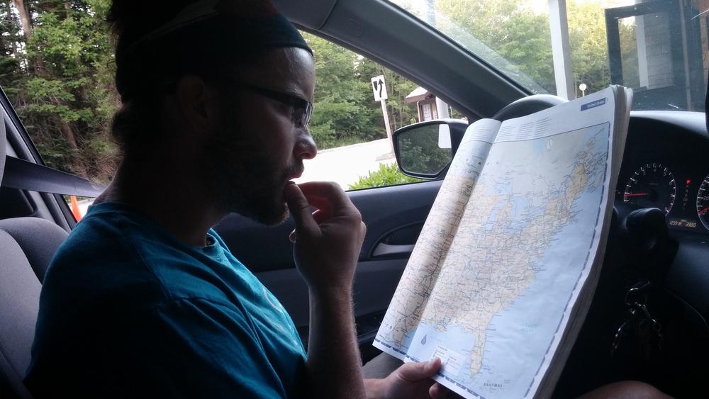 Always looking at maps. Always.
