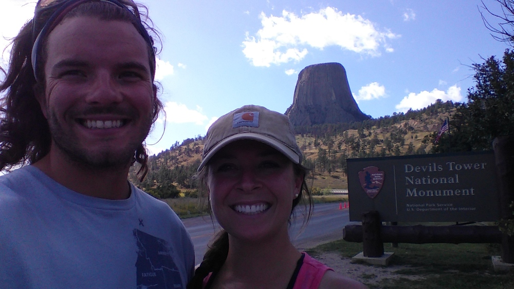 Devil's Tower! Did you know a guy landed on Devil's Tower after skydiving for a political stunt? He was stuck up there for six days!