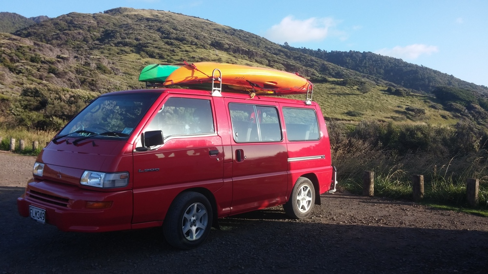 The kayak mobile to Tania and Stuart's favorite spot: Te Toto Gorge.
