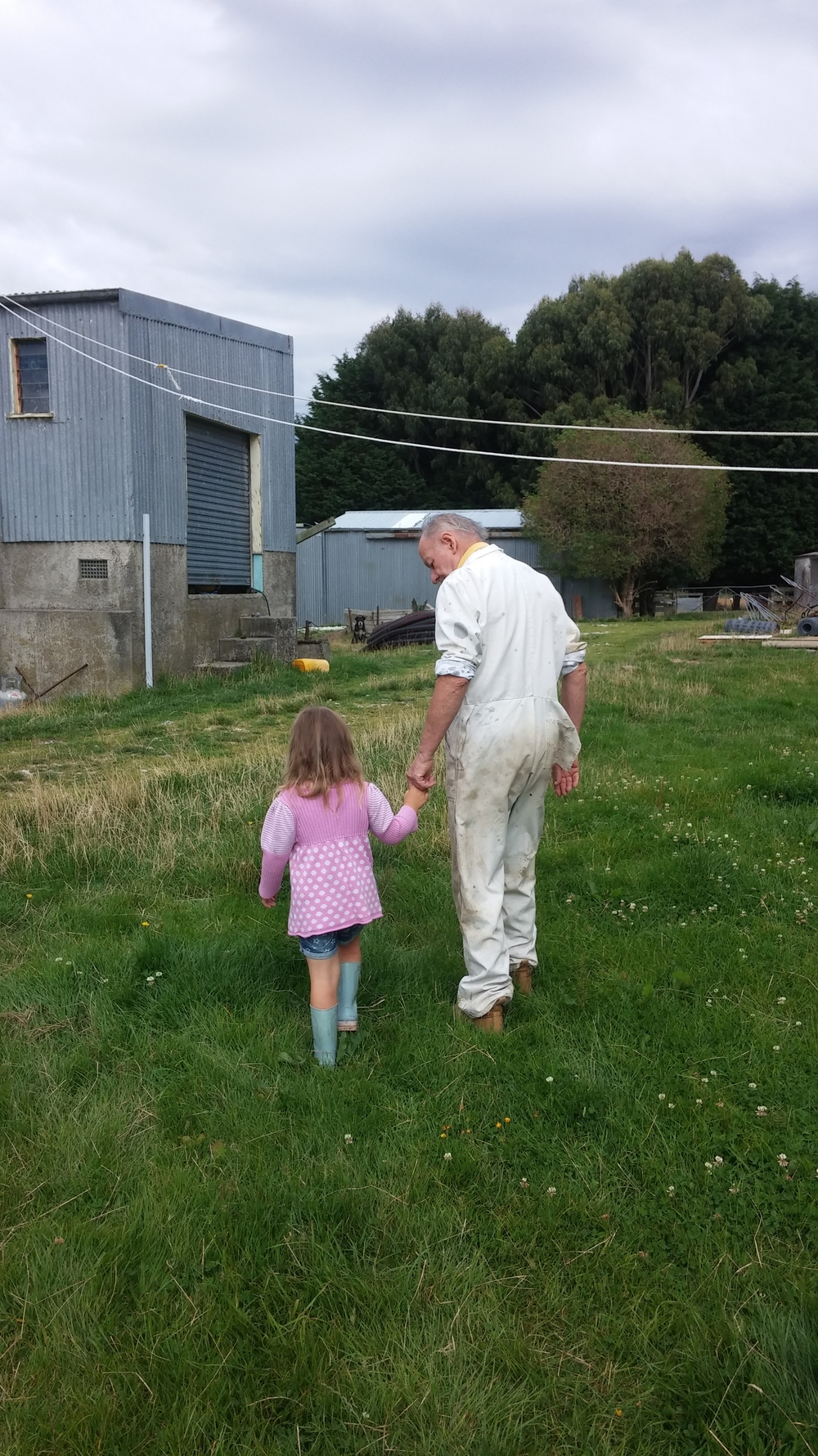 Granddad and Granddaughter