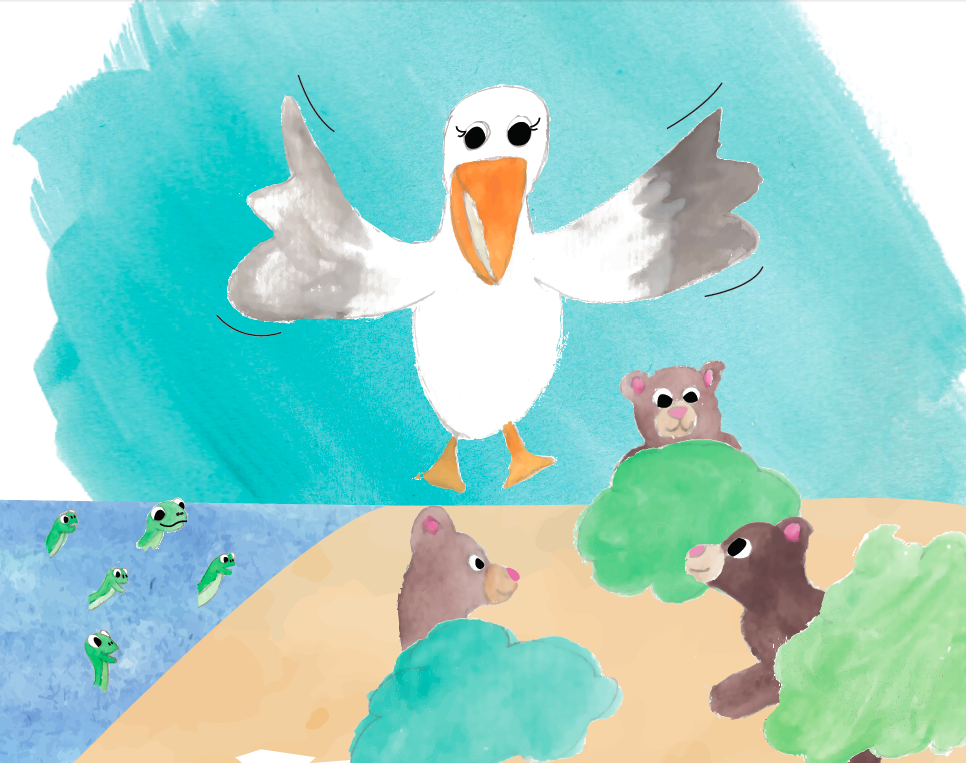 Putih the Traveling Pelican Illustrated by Lauren Clickner Written by Lindsey Desmarais Nubern