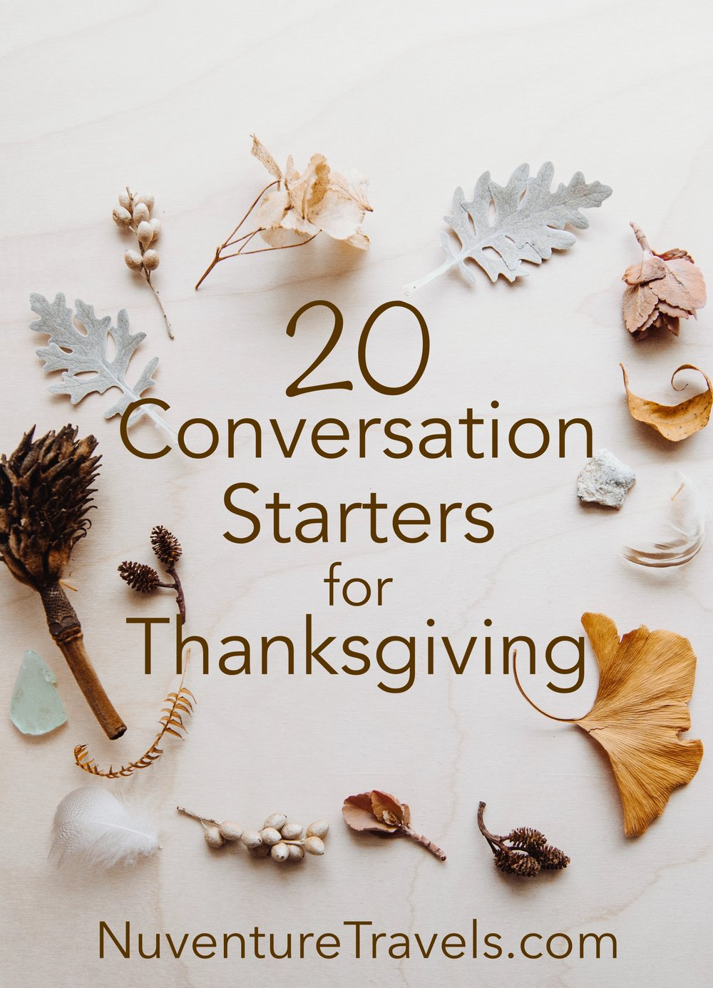 20 Conversation Starters for Thanksgiving, NuvetureTravels.com