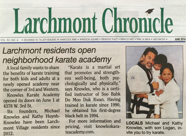 A little write-up in the Larchmont Chronicle about our new studio!