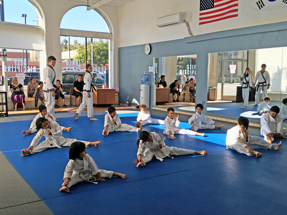 Basic exercises before the real karate begins.