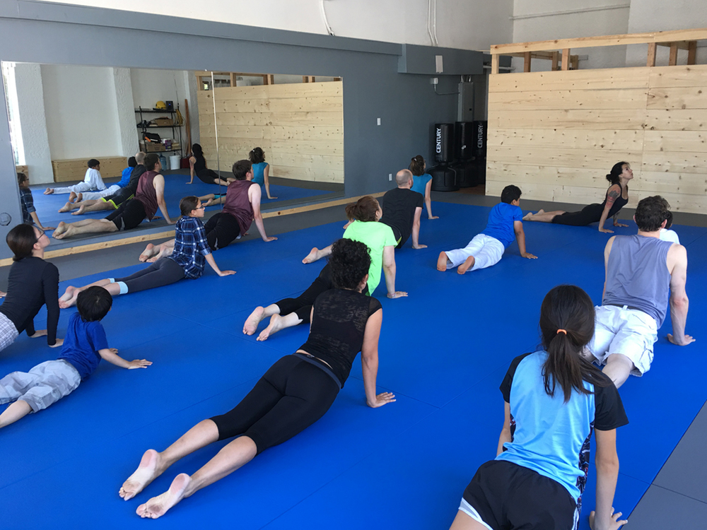 Free family yoga class today