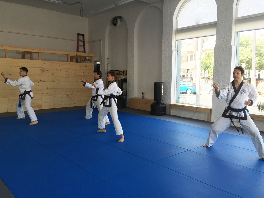 Dans (black belts) doing their forms