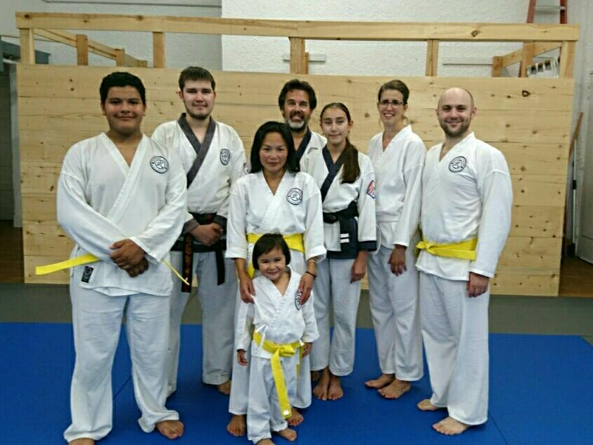 New adult yellow belts - congratulations!