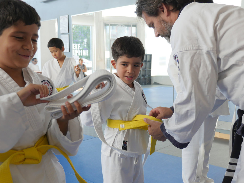 Yellow belt ceremony