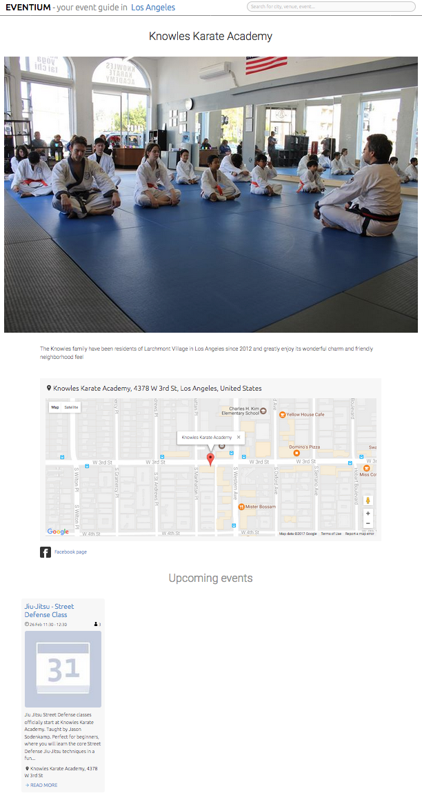Our new Jiu-Jitsu program touted on Eventium. See    here