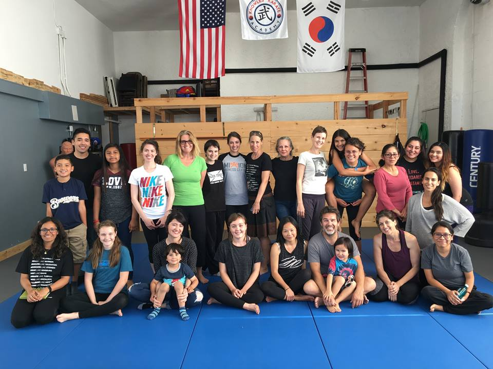 Great turnout for our women's self-defense event in partnership with UN Women LA!