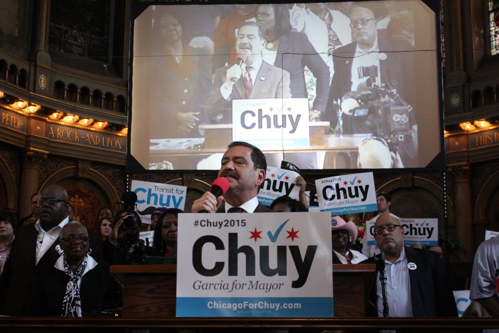 Curtainraiser for Chicago's 2015 mayoral election. (The Guardian)