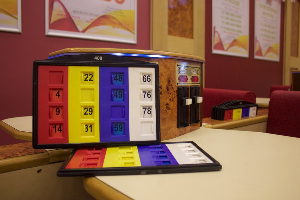 SLOT BINGO ( INTERVAL GAMES ) - Slot Bingo is played on a 4x4 numbered plastic board with numbers ranging from 1-80, located at your table.  A 1-4 digit number is located at the top of the board.  The caller will announce this number if you win.Game stakes range from 20p to £1.00 and are played during main session intervals.  Prize money for these games is generated on a participation basis, i.e the more who play the more we payChoose a board, listen for pre-game announcements for price to play, prize money or any bonus Insert money into the slots at your tableThe caller will call the numbers and will announce the winning board number.  You do not need to shout 'CHECK' during slot bingoA member of staff will bring you your prize money