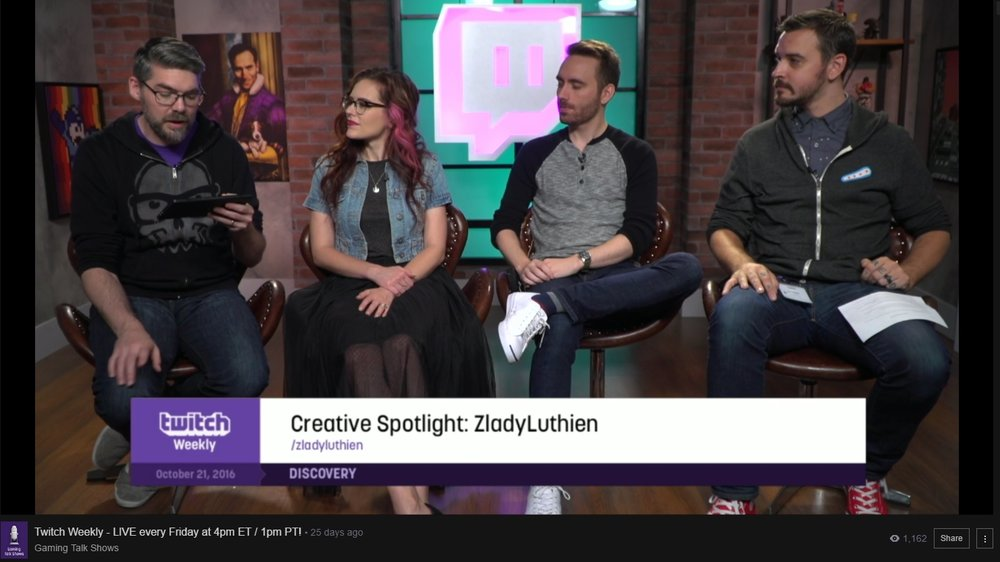 Featured on Twitch Weekly show, October 2016.