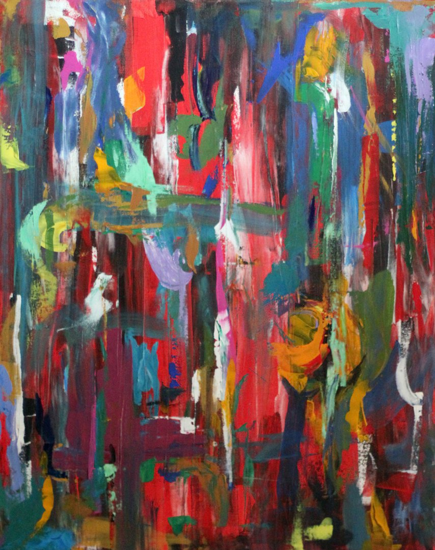 Abstract Painting, 2011. Acrylic on canvas.