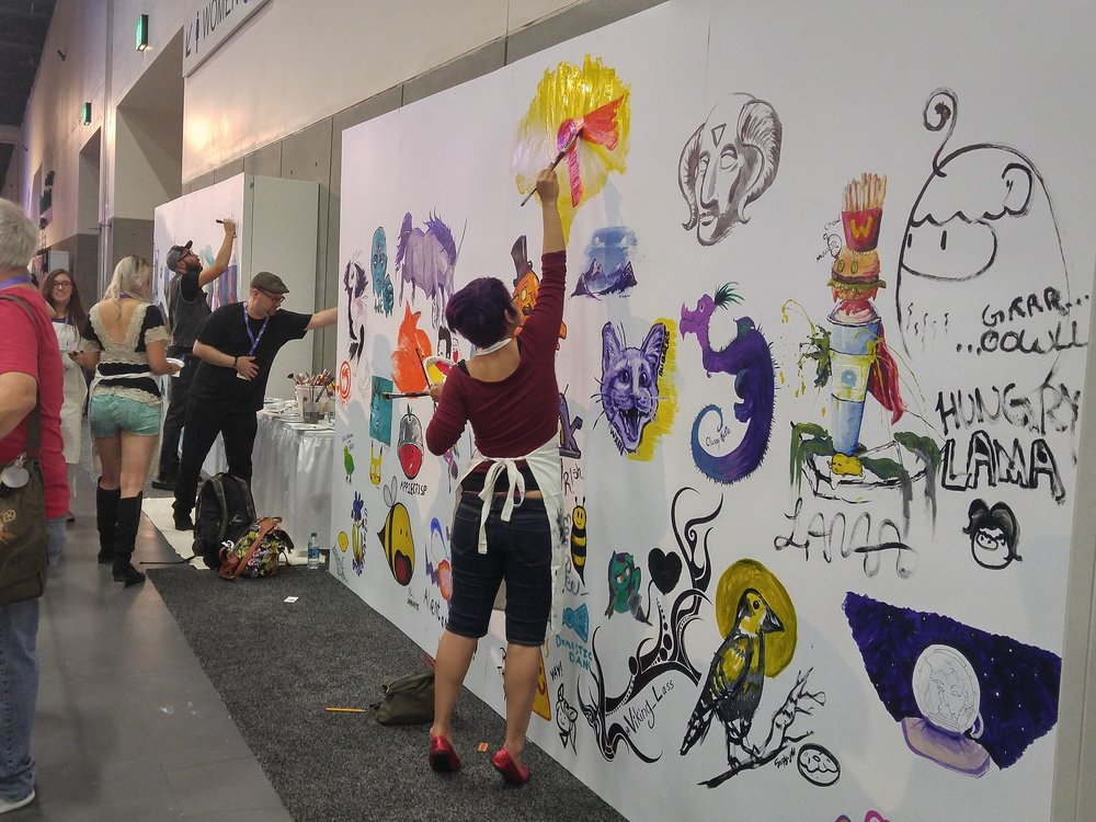 Part of the giant mural (in progress)