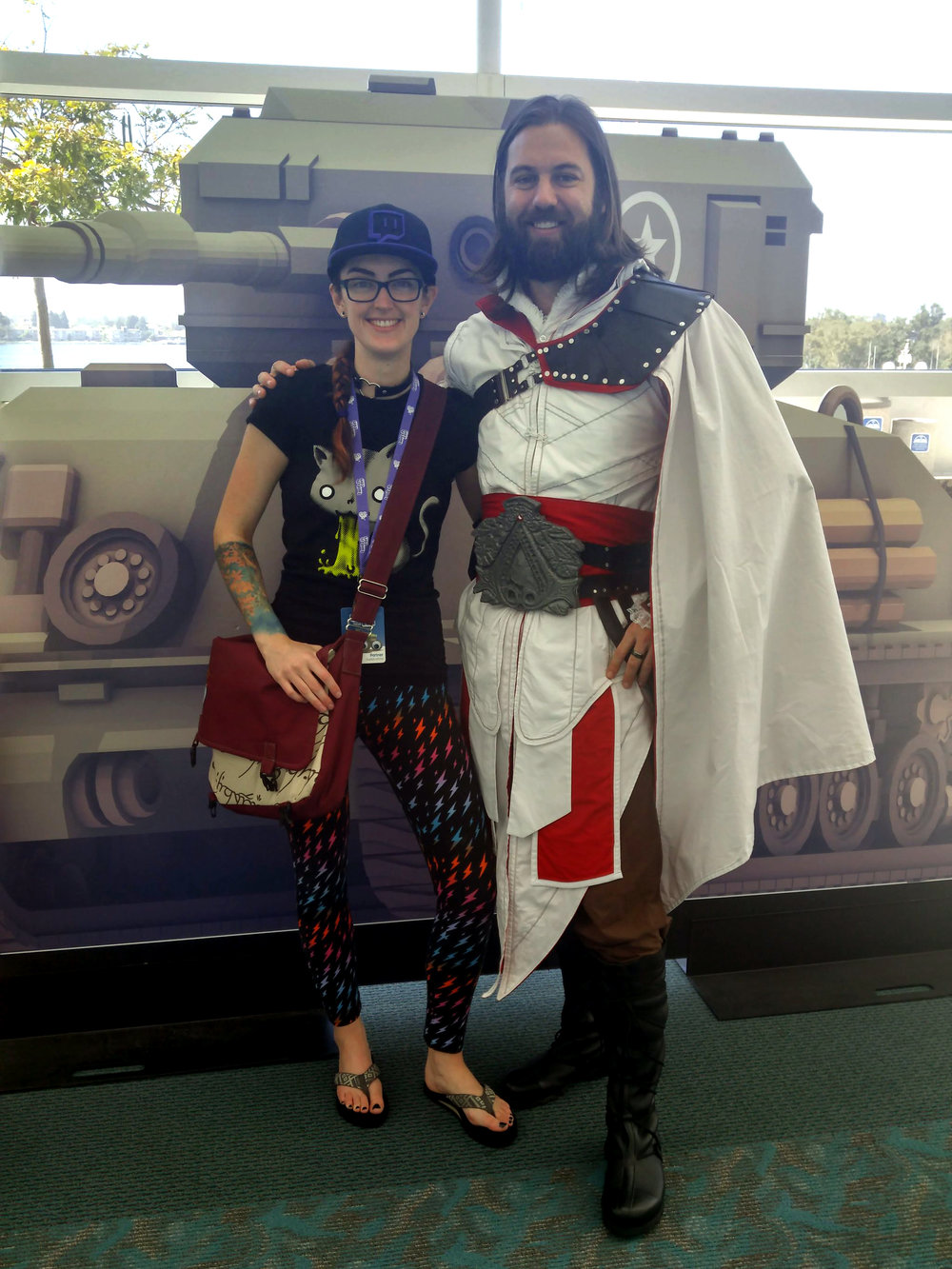 Hanging out with TockCustom before he went on stage for the Cosplay Contest!