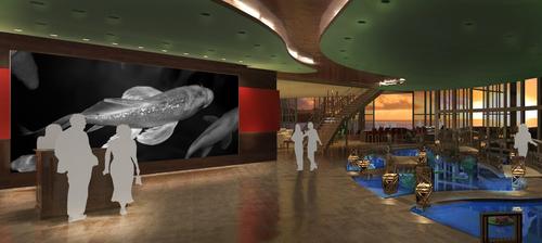 "Entrance, Sushi Restaurant Concept called ""Koi"", 3D Rendering, 2009"