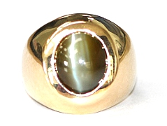 Catseye Chrysoberyl Gents Ring