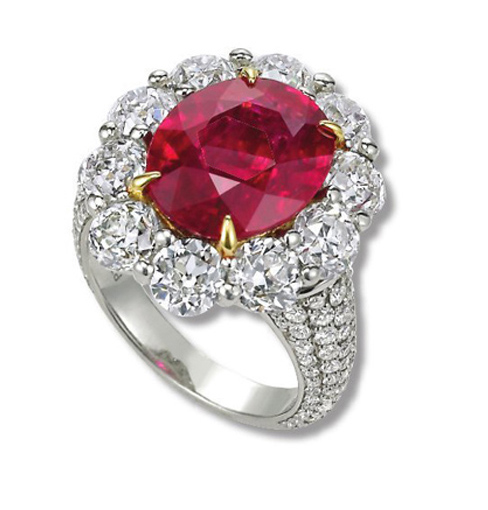 Important Ruby and Diamond Ring